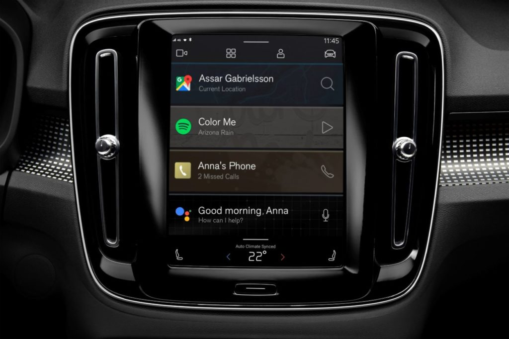Volvo XC40 - system Sensus