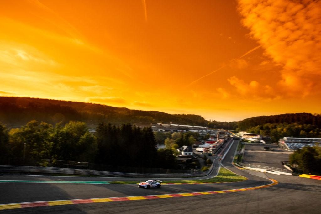 Eau Rouge Spa Francorchamps zachód słońca