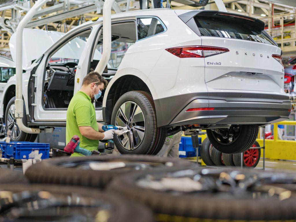 Škoda Enyaq w fabryce Mlada Boleslav