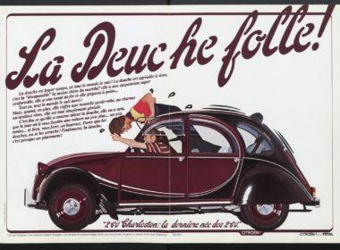 Citroen 2CV reklama z epoki