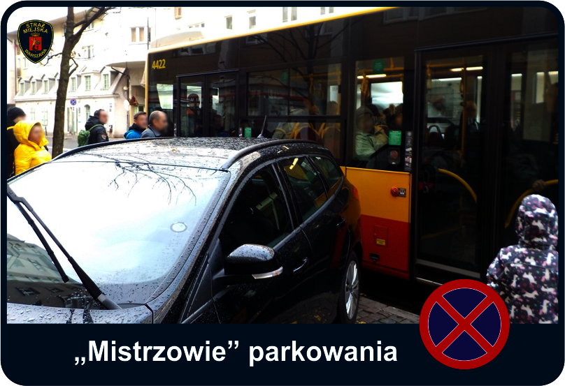 Mistrzowie parkowania - auto zaparkowane na przystanku autobusowym