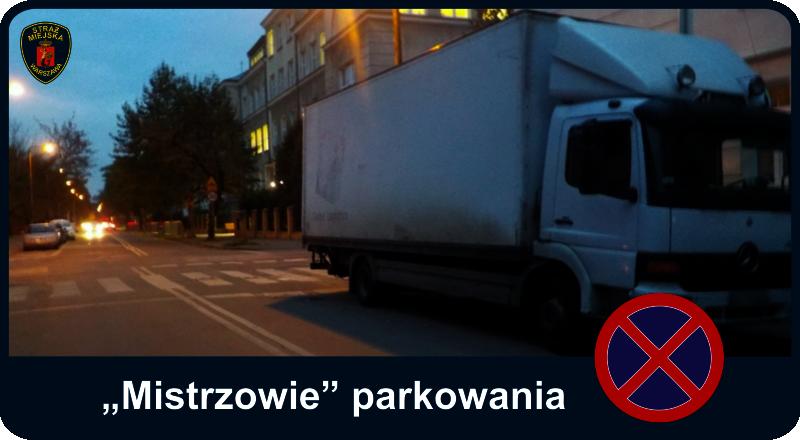 """Mistrzowie parkowania - ciężarówka parkująca """"pod prąd"""" i blokująca pasy dla pieszych"""