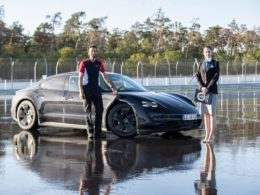 Porsche Taycan - rekord Guinnessa w drifcie elektrykiem