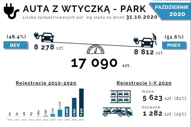 Liczba zarejestrowanych aut z wtyczką