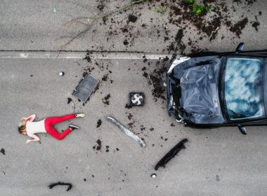 Wypadek z udziałem pieszego