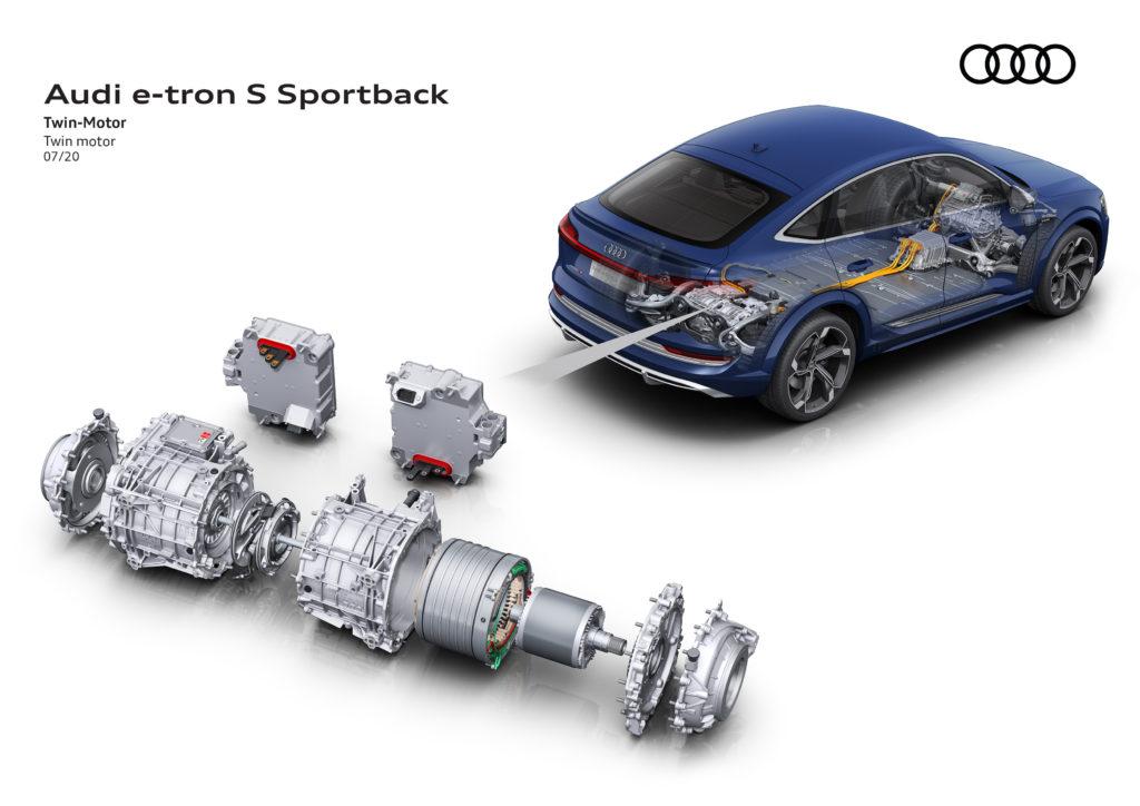 Napęd elektryczny w Audi e-tron Sportback