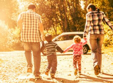 Rodzina i ich samochód
