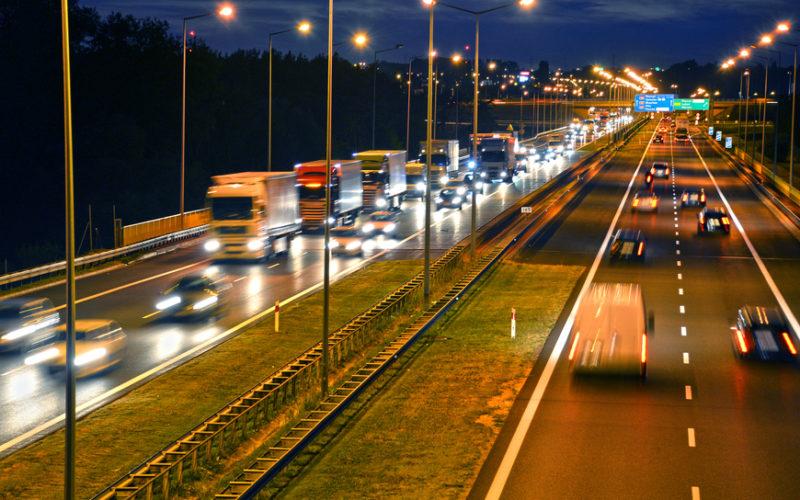 Autostrada w okolicach Poznania