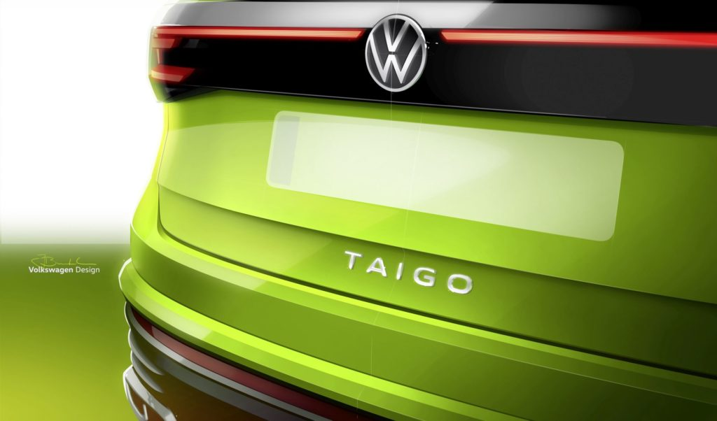 VW Taigo szkic koncepcyjny (graf. materiały prasowe producenta)