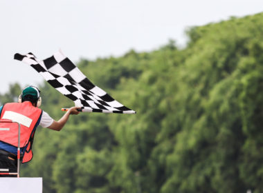 flaga meta wyścig finisz zwycięztwo