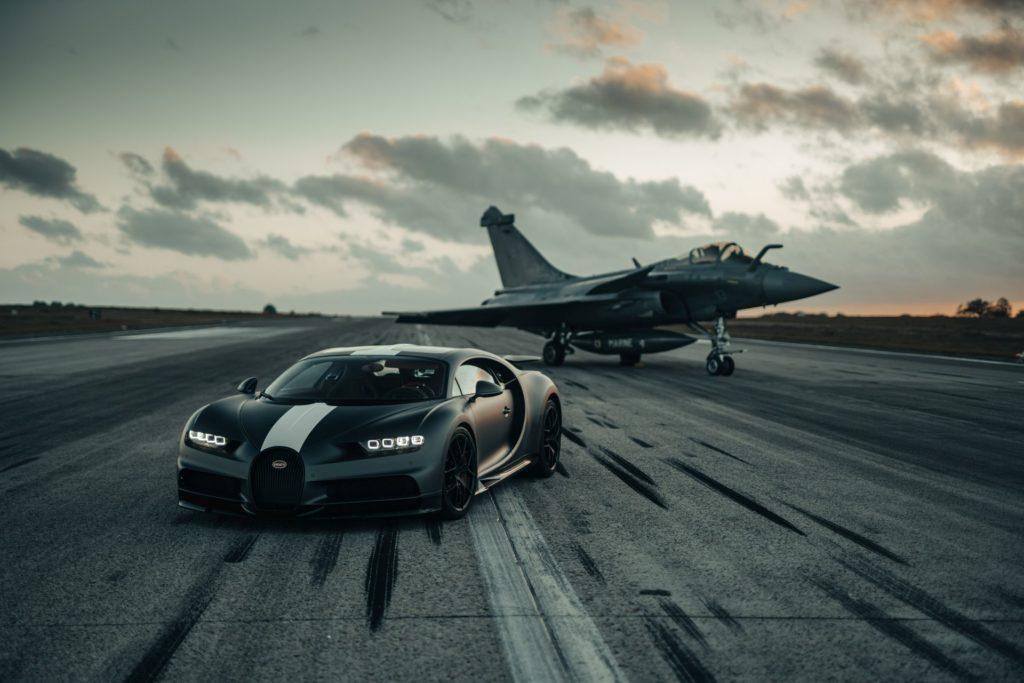 Bugatti Chiron Sport i Dassault Rafale