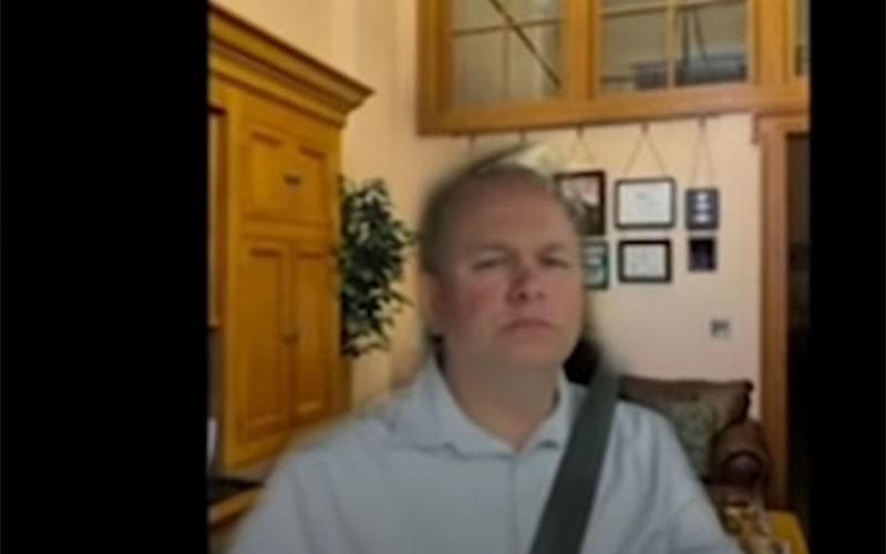 Senator Ohio podczas spotkania online