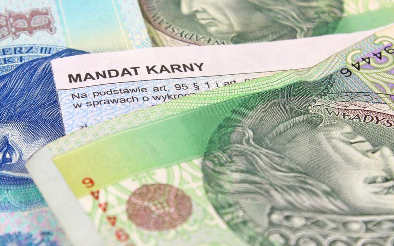 nowy taryfikator mandatów